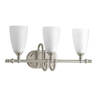 Progress Revive 3 Light Vanity in Brushed Nickel P2076-09