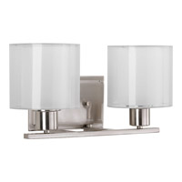 Progress Invite 2 Light Vanity in Brushed Nickel P2078-09