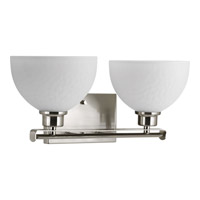 Progress Legend 2 Light Bath Vanity in Brushed Nickel P2088-09