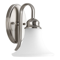 Applause 1 Light 7 inch Brushed Nickel Bath Light Wall Light