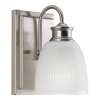 Progress Lucky 1 Light Bath Vanity in Brushed Nickel P2115-09