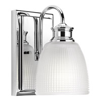 Progress P2115-15 Lucky 1 Light 5 inch Polished Chrome Bath Vanity Wall Light