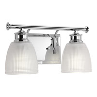 Progress Lucky 2 Light Bath Vanity in Polished Chrome P2116-15