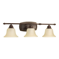 Spirit 3 Light 28 inch Antique Bronze Bath Vanity Wall Light