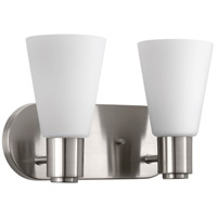 Logic 2 Light 13 inch Brushed Nickel Bath Vanity Wall Light