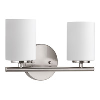 Replay 2 Light 13 inch Brushed Nickel Bath Vanity Wall Light