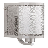 Progress Lighting Mingle 1 Light Bath Vanity in Brushed Nickel with Etched Spotted Glass P2161-09