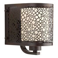 Progress Lighting Mingle 1 Light Bath Vanity in Antique Bronze with Etched Spotted Glass P2161-20