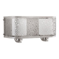 Progress Lighting Mingle 2 Light Bath Vanity in Brushed Nickel with Etched Spotted Glass P2162-09