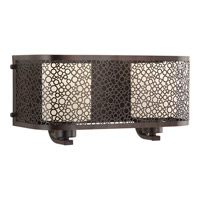 Progress Lighting Mingle 2 Light Bath Vanity in Antique Bronze with Etched Spotted Glass P2162-20