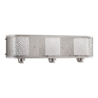 Progress Lighting Mingle 3 Light Bath Vanity in Brushed Nickel with Etched Spotted Glass P2163-09