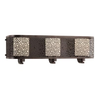 Progress Lighting Mingle 3 Light Bath Vanity in Antique Bronze with Etched Spotted Glass P2163-20