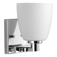 Progress Lighting Fleet 1 Light Bath Vanity in Polished Chrome with Etched Opal Glass P2165-15