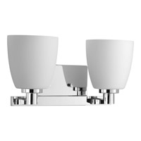 Progress Lighting Fleet 2 Light Bath Vanity in Polished Chrome with Etched Opal Glass P2166-15