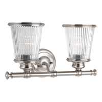 Progress Lighting Radiance 2 Light Bath Vanity in Brushed Nickel with Clear Glass P2170-09