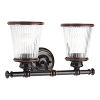 Progress Lighting Radiance 2 Light Bath Vanity in Rubbed Bronze with Clear Glass P2170-139