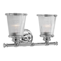 Radiance 2 Light 15 inch Polished Chrome Bath Vanity Wall Light