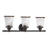 Radiance 3 Light 24 inch Rubbed Bronze Bath Vanity Wall Light