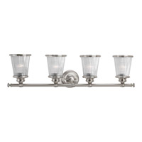 Radiance 4 Light 33 inch Brushed Nickel Bath Vanity Wall Light