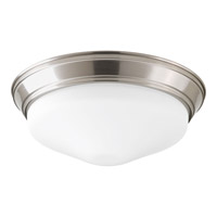 Progress Lighting Signature 1 Light Flush Mount in Brushed Nickel P2302-09ET30K