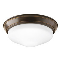 Signature LED 11 inch Antique Bronze Flush Mount Ceiling Light in Etched