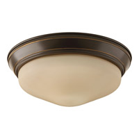 Signature LED 11 inch Antique Bronze Flush Mount Ceiling Light in Etched Umber
