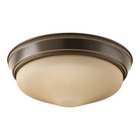 Signature LED 13 inch Antique Bronze Flush Mount Ceiling Light in Etched Umber