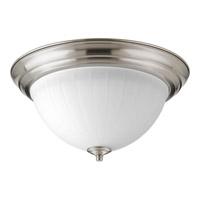 Progress P2305-0930K9 Signature LED 13 inch Brushed Nickel Flush Mount Ceiling Light in Etched Ribbed