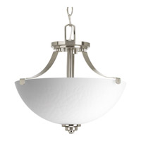 Legend 2 Light 15 inch Brushed Nickel Semi-Flush Ceiling Light