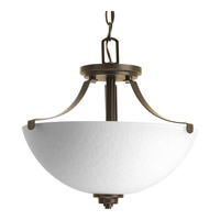 Legend 2 Light 15 inch Antique Bronze Semi-Flush Ceiling Light