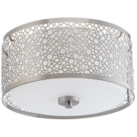 Mingle LED 11 inch Brushed Nickel Flush Mount Ceiling Light, Etched Parchment Glass