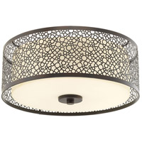 Mingle LED 14 inch Antique Bronze Flush Mount Ceiling Light, Etched Parchment Glass