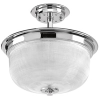 Archie 2 Light 12 inch Polished Chrome Semi-Flush Convertible Ceiling Light