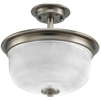 Archie 2 Light 12 inch Antique Nickel Semi-Flush Convertible Ceiling Light