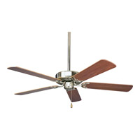 Progress P2501-09 AirPro 52 inch Brushed Nickel Ceiling Fan in Cherry/Natural Cherry