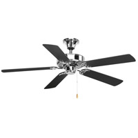 AirPro 52 inch Polished Chrome with Graphite/Matte Black Blades Ceiling Fan