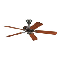 AirPro 52 inch Antique Bronze Ceiling Fan in Medium Cherry/Classic Walnut