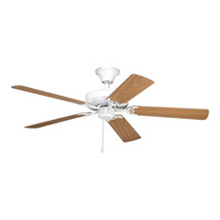 AirPro 52 inch White with White/Oak Blades Ceiling Fan