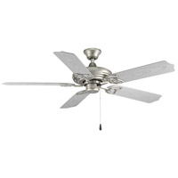 Progress P2502-141 AirPro Outdoor 52 inch Galvanized with Silver Blades Ceiling Fan
