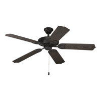 AirPro 52 inch Forged Black Ceiling Fan in Toasted Oak