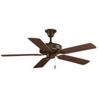 Progress P2503-20 AirPro 52 inch Antique Bronze with Reversible Classic Walnut/Medium Cherry Blades Ceiling Fan in Medium Cherry/Classic Walnut