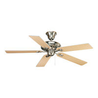 Progress P2521-09 Airpro 52 inch Brushed Nickel With White/Natural Cherry Blades Ceiling Fan