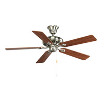 Progress P2521-09CH AirPro 52 inch Brushed Nickel with Cherry/Natural Cherry Blades Ceiling Fan photo thumbnail