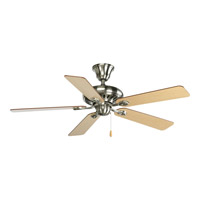 Progress P2521-09CH AirPro 52 inch Brushed Nickel with Cherry/Natural Cherry Blades Ceiling Fan alternative photo thumbnail