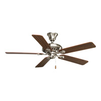 Signature 52 inch Brushed Nickel Ceiling Fan in Medium Cherry/Classic Walnut