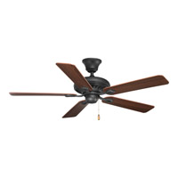 Signature 52 inch Forged Black Ceiling Fan in Dark Walnut/Dark Cherry