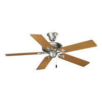 AirPro 52 inch Antique Nickel Ceiling Fan in Medium Oak/Cherry