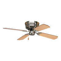 AirPro 42 inch Brushed Nickel Hugger Ceiling Fan in Cherry/Natural Cherry