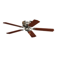 AirPro 52 inch Brushed Nickel Hugger Ceiling Fan in Cherry/Natural Cherry