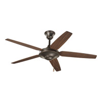 AirPro 54 inch Antique Bronze Ceiling Fan in Medium Cherry/Classic Walnut